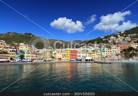 Bogliasco, Italy stock photo, seafront of Bogliasco, small town in Liguria, Italy by ANTONIO SCARPI