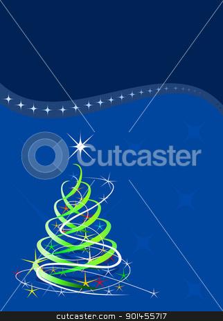 Blue Christmas template stock vector clipart, Christmas template, blue background with stars by Jupe