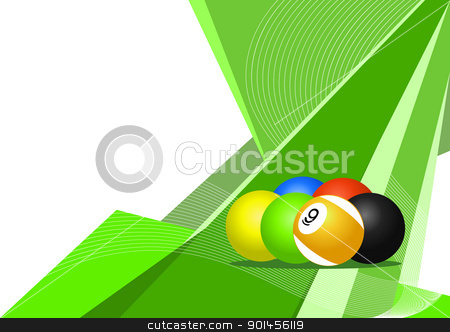 Pool balls, abstract design stock vector clipart, Pool balls, abstract design by Jupe
