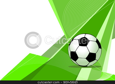 Soccer, abstract design stock vector clipart, Soccer, abstract design by Jupe