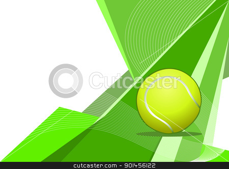 Tennis, abstract design stock vector clipart, Tennis, abstract design by Jupe
