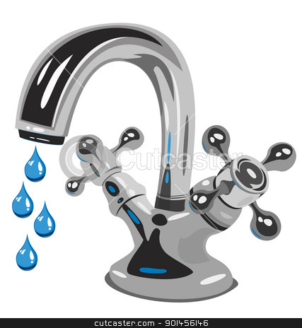 Dripping water stock vector clipart, Dripping water, Vector  illustration by Jupe