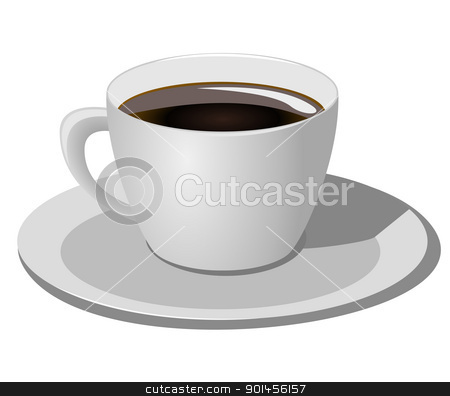Coffee cup on white background stock vector clipart, Coffee cup on white background, Vector illustration by Jupe