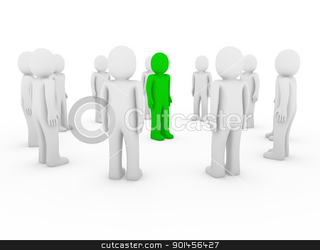 3d human circle green white stock photo, 3d, human, circle, green, white, teamwork, business, group by d3images