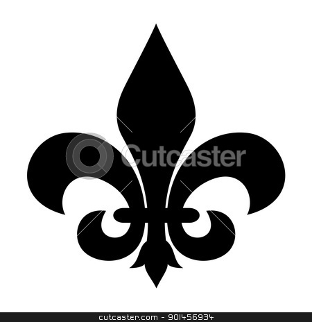 Fleur-de-lis symbol stock photo, Fleur-de-lis symbol isolated on a white background. by Martin Crowdy