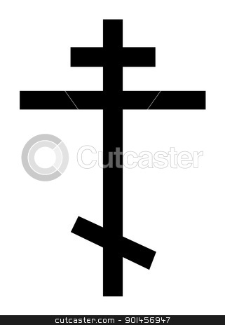 Orthodox Christian cross stock photo, Orthodox christian cross isolated on a white background. by Martin Crowdy