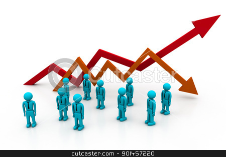 Business chart. (Success or fall concept) stock photo, Business chart. (Success or fall concept) by dileep