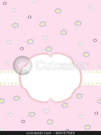 Template frame stock vector clipart, Template frame design for greeting card. Vector by -=Mad Dog=-