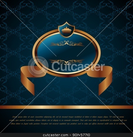 royal background with artistic award stock vector clipart, Illustration royal background with artistic award golden frame - vector by -=Mad Dog=-