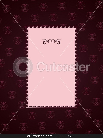 Frame stock vector clipart, Illustration of cute floral frame. vector by -=Mad Dog=-