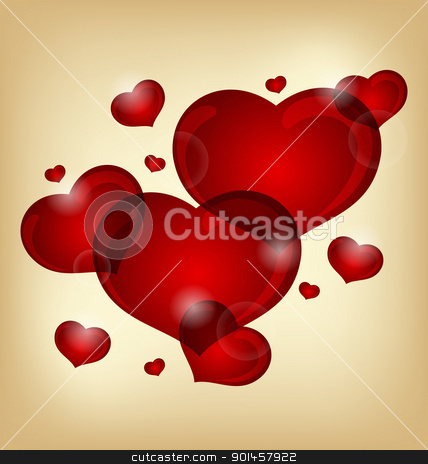 set of valentine hearts stock vector clipart, Illustration set of valentine hearts - vector by -=Mad Dog=-