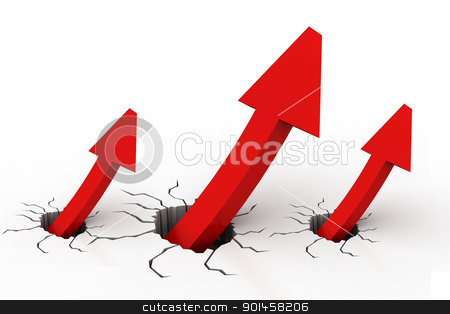 Growth chart	 stock photo, Growth chart	 by dileep