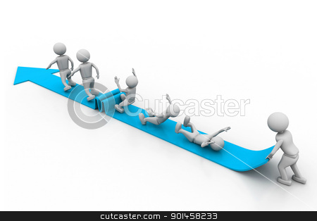 Success graph stock photo, Success graph by dileep