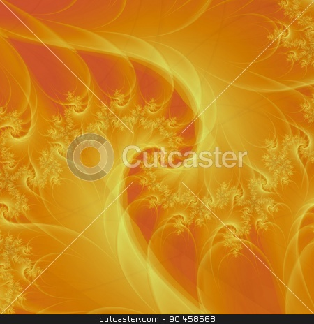 Orange Spiral stock photo, Digital abstract image with a spiral design in shades of orange. by Colin Forrest