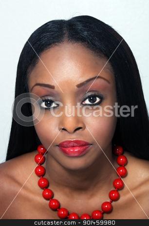 Beautiful Young Woman, Headshot (1) stock photo, Studio close-up of an extraordinarily beautiful young woman. by Carl Stewart