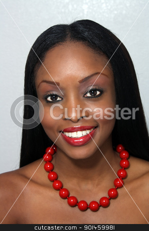 Beautiful Young Woman, Headshot (2) stock photo, Studio close-up of an extraordinarily beautiful young woman with a bright, warm smile. by Carl Stewart