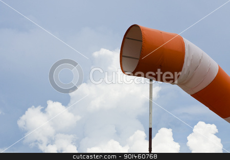 wind sock  stock photo, wind sock meter by Komkrit Muangchan