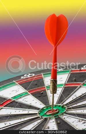 dart game stock photo, dart game by Komkrit Muangchan