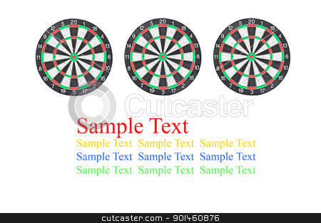 dartboard isolated on white background stock photo, dartboard isolated on white background by Komkrit Muangchan