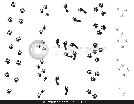 trace stock photo,  black silhouette animal background bear bird black bones cat chicken claw composition decoration design dish dog element feline finger fingernail fingerprints fingers foot footprint hand heel hound hue human icon illustration impress ink leg mammal mark mashing painting paw pet plant rooster selection sets side sign silhouette socket stain stamp trace track wild  by tijana90