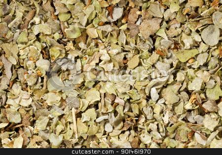 marjoram seasoning at life-size stock photo, background of marjoram herb seasoning at life-size magnification by Marek Uliasz
