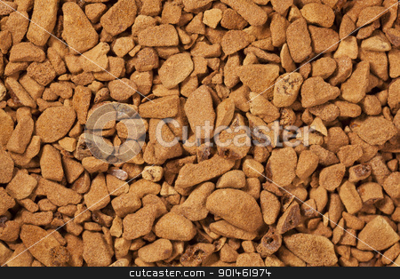 instant coffee granules at life-size stock photo, background of instant coffee granules at life-size magnification by Marek Uliasz