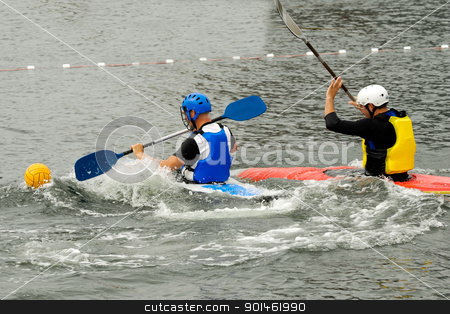 People are playing kayak polo stock photo, People are playing kayak polo by Lars Christensen