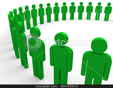 3d team circle green stock photo, 3d team circle green community social teamwork by d3images