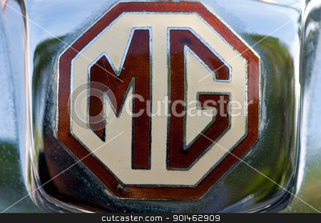 Hua Hin Vintage Car Parade  2011 stock photo, Hua Hin - December 17: Mg Magna L1 Year 1933 logo display in Hua Hin Vintage Car Parade  2011 Sofitel Centara Grand Resort & Villas Hua Hin on December 17, 2011 in Hua Hin, Thailand. by Komkrit Muangchan