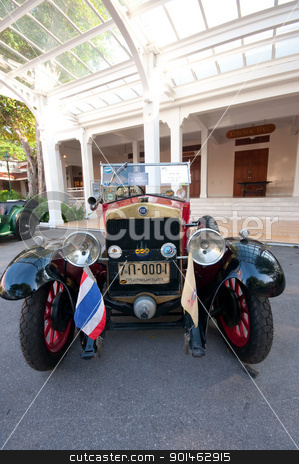 Hua Hin Vintage Car Parade  2011 stock photo,  Hua Hin - December 17: Fiat Tipo 509 Year 1926 display in Hua Hin Vintage Car Parade  2011 Sofitel Centara Grand Resort & Villas Hua Hin on December 17, 2011 in Hua Hin, Thailand. by Komkrit Muangchan