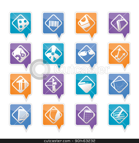 Business and Office Icons stock vector clipart, Business and Office Icons - Vector Icon Set  by Stoyan Haytov
