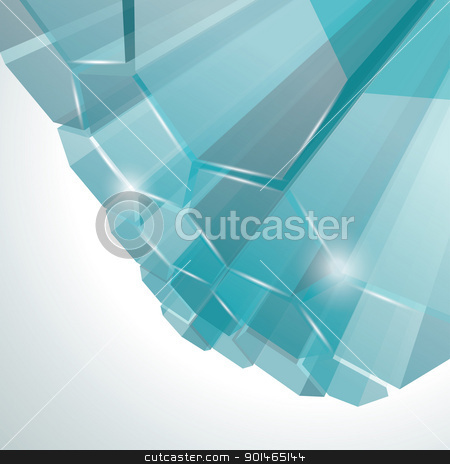 3d bright abstract background  stock vector clipart, 3d bright abstract background  by Elena
