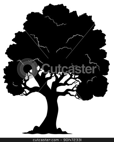 Tree shaped silhouette 1 stock vector clipart, Tree shaped silhouette 1 - vector illustration. by Klara Viskova