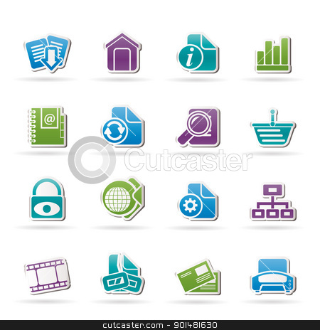Web Site and Internet icons  stock vector clipart, Web Site and Internet icons - vector icon set by Stoyan Haytov