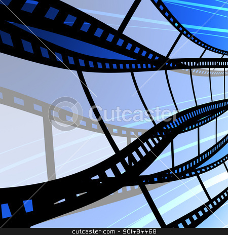 Blank film strip stock photo, Blank film strip, Film industry concept by Patipat Rintharasri