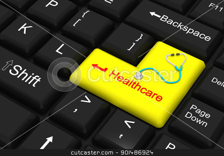 healthcare enter key stock photo, healthcare enter key by dileep