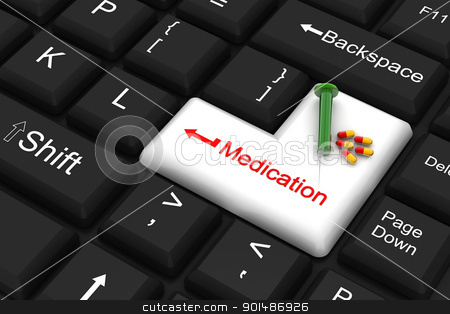 medication enter key stock photo, medication enter key by dileep