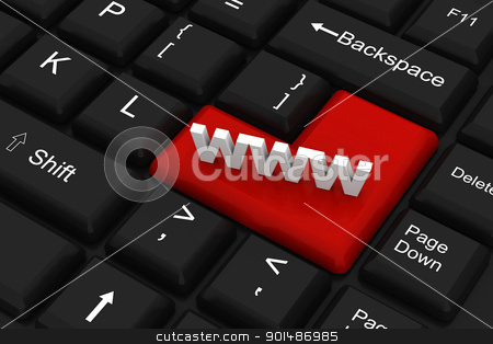 www on computer keyboard stock photo, www on computer keyboard by dileep