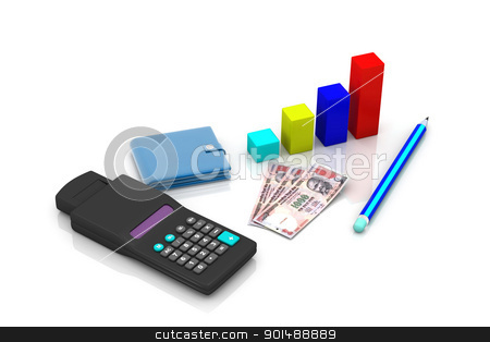 business chart showing financial success at the stock market stock photo, business chart showing financial success at the stock market by dileep
