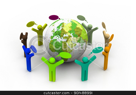 Global community stock photo, Global community by dileep