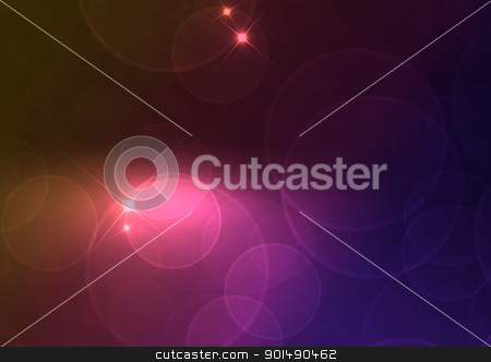 Abstract Background stock photo, Abstract Background - Multicolor Blurred Lights on Dark Background by JAMDesign