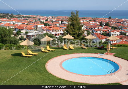 Greece. Halkidiki. Pool of hotel  stock photo, Greece. Halkidiki. Pool of hotel  by Morozova Oxana