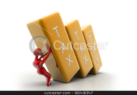 Person holding the tax bar	 stock photo, Person holding the tax bar	 by dileep