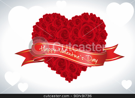 Valentine Rose stock vector clipart, This image is a vector file representing a heart made from roses,  all the elements can be scaled to any size without loss of resolution. by Bagiuiani Kostas