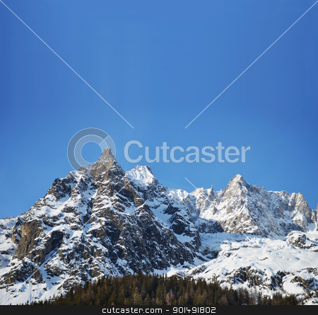 Alpine panorama with copy space stock photo, View of the Alps with space for text or copy by Stefano Cavoretto