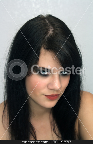 Beautiful Young Brunette, Headshot (7) stock photo, A studio glamour close-up of a lovely young brunette. by Carl Stewart