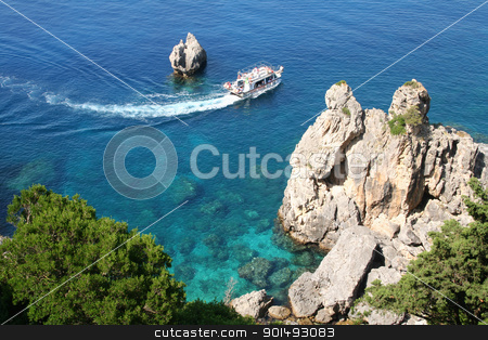 Greece. Corfu. stock photo, Greece. Corfu. Paleokastrica coast  by Morozova Oxana