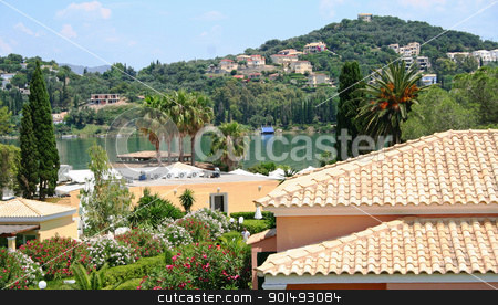 Greece. Corfu. Hotel on the beach  stock photo, Greece. Corfu island. Hotel on the beach  by Morozova Oxana