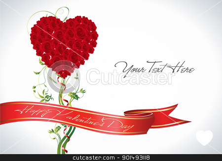 Rose Heart stock vector clipart, This image is a vector file representing a rose flower heart,  all the elements can be scaled to any size without loss of resolution. by Bagiuiani Kostas