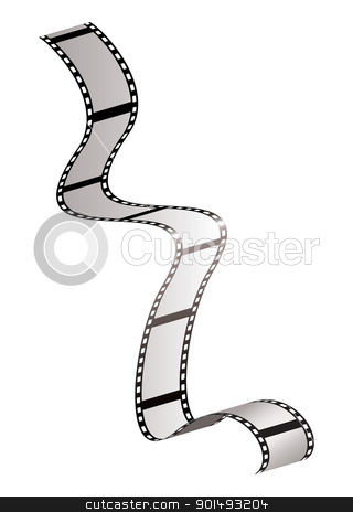 Film strip fall stock vector clipart, Strip of olf fashioned film strip with room for your own photographs by Michael Travers